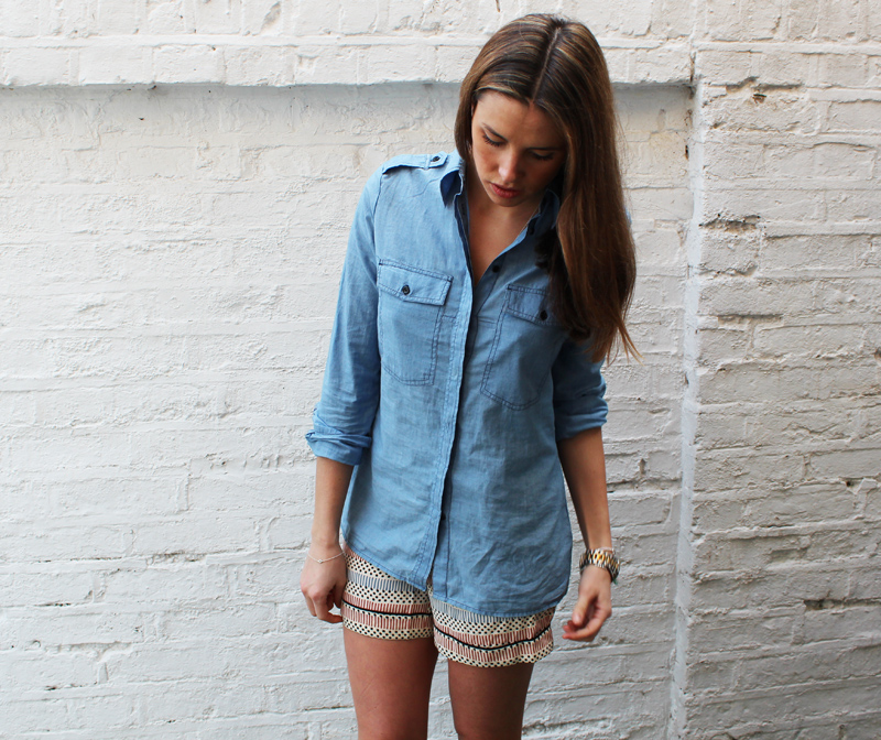 Anneli bush gap denim chambray shirt anneli bush for Cuisine you chambray
