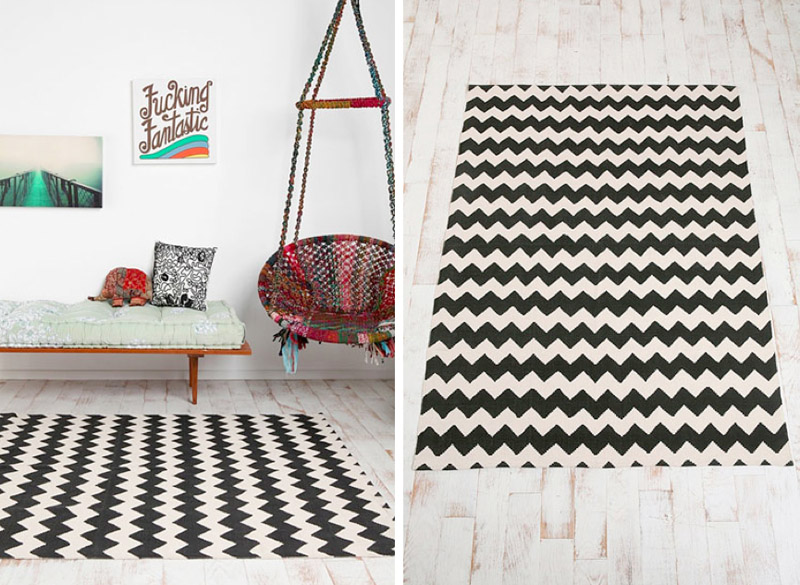 High Up On Wish List Is This Zig Zag Rug From Urban Outfitters (£65). I  Love Mixing Graphic Prints With Softer And More Vibrant Elements, Colourful  Prints ...