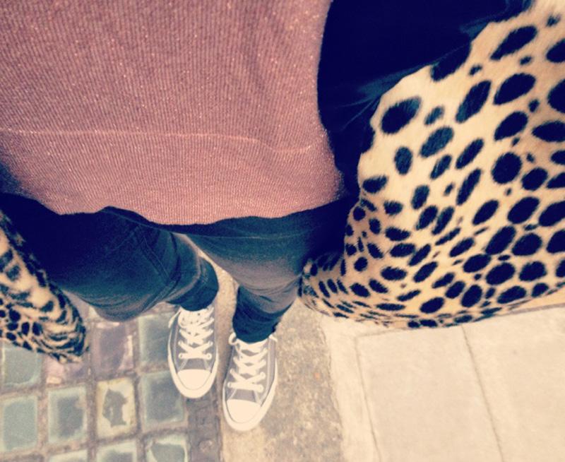 OOTD: Leopard & Grey