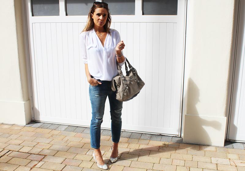 Zara White Cotton Blouse 27