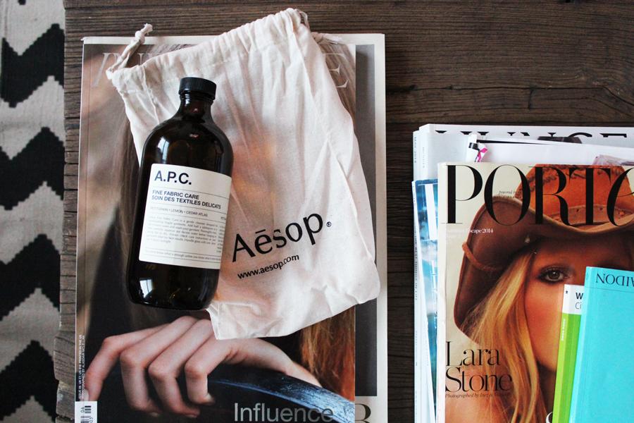 AESOP x A.P.C Fine Fabric Care
