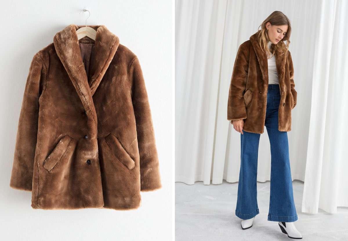 713e522c It was love at first sight with this short faux fur teddy coat. I adore the  70's vibe and the colour and shape looks super flattering (the latter of  which ...